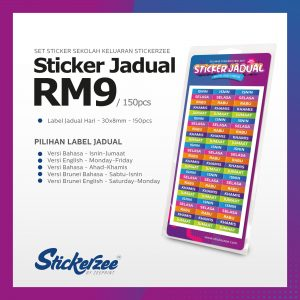 Sticker-Jadual