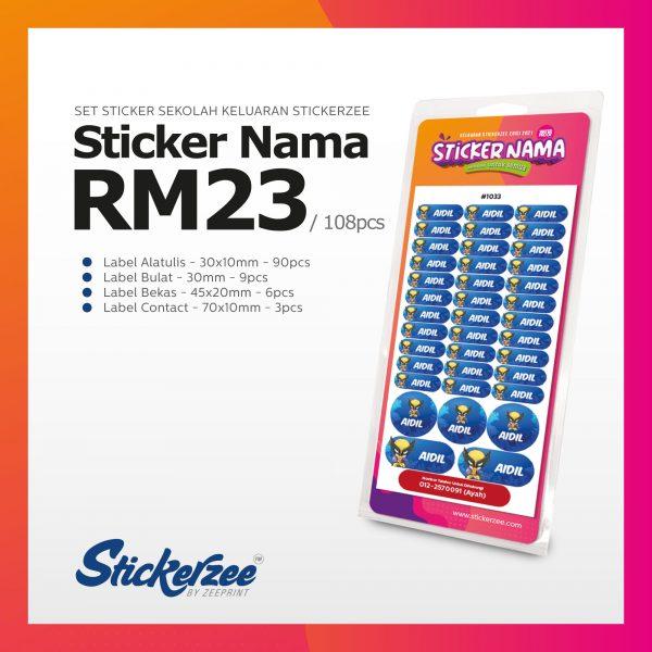 Sticker Nama Stickerzee